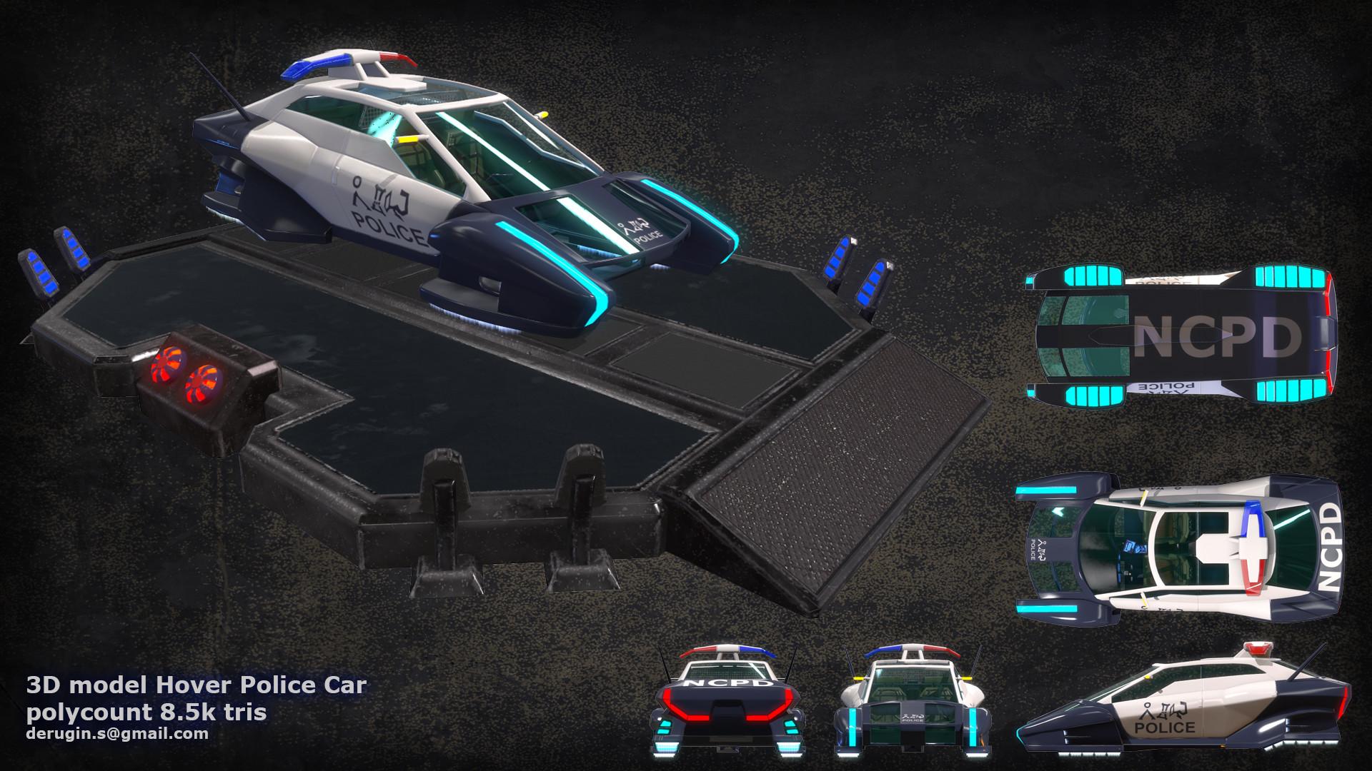 sergey derugin hover police car 3d model. Black Bedroom Furniture Sets. Home Design Ideas