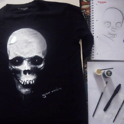 Yasar vurdem t shirt painting from 2013 by vurdem d9afpjx