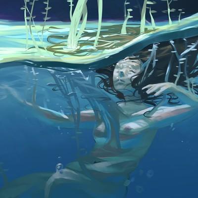 Angelina costamagna underwater light