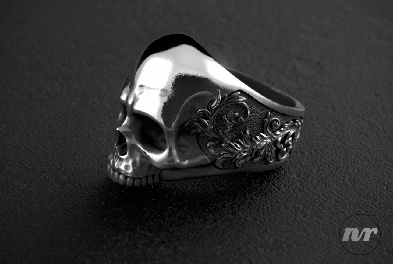 Nacho riesco gostanza skull swirls ring 500k