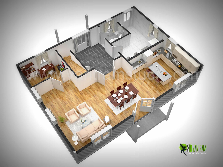 Yantram studio the best modern 3d floor plan rendering for 3d floor plan rendering
