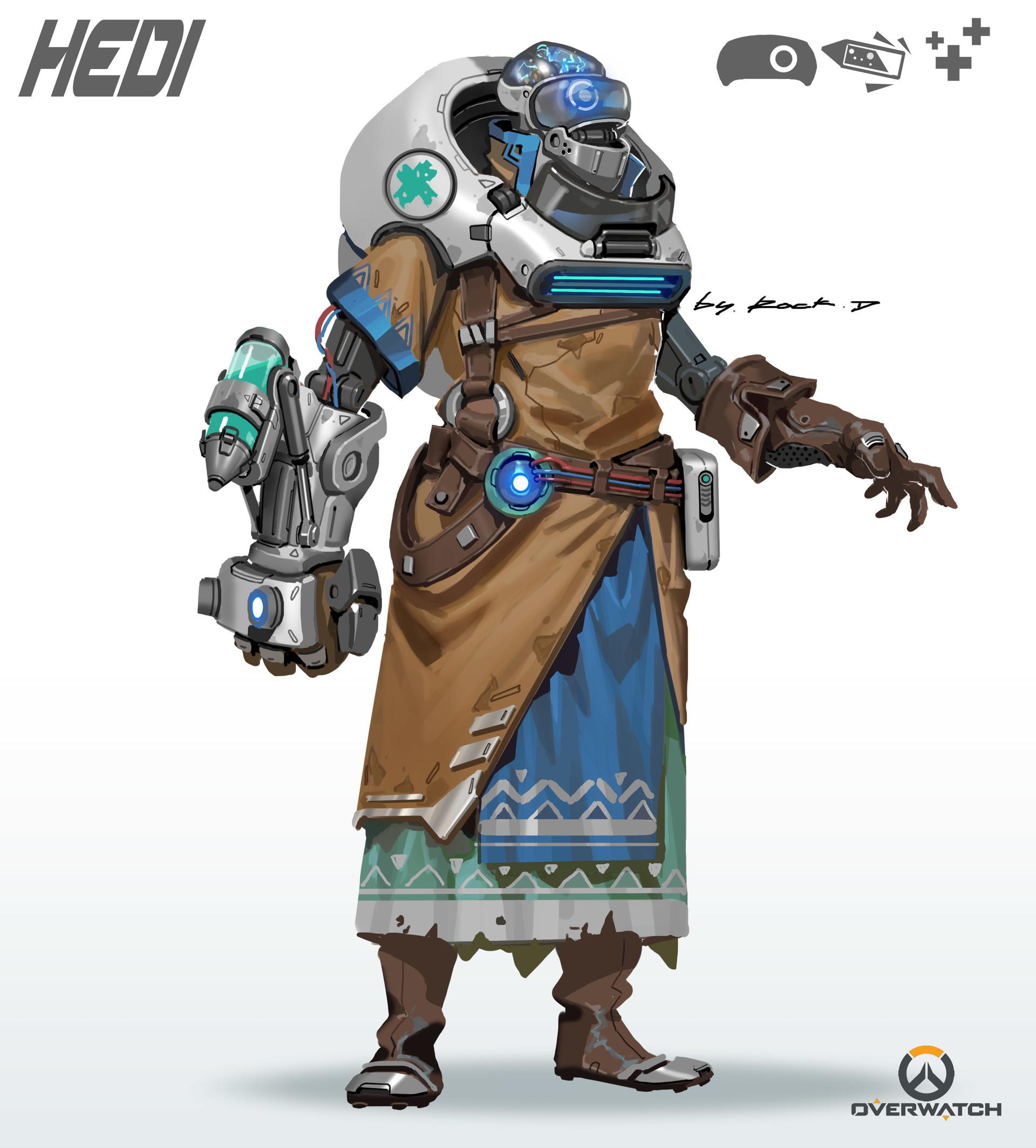 Character Design Overwatch : Artstation overwatch fanart rock d