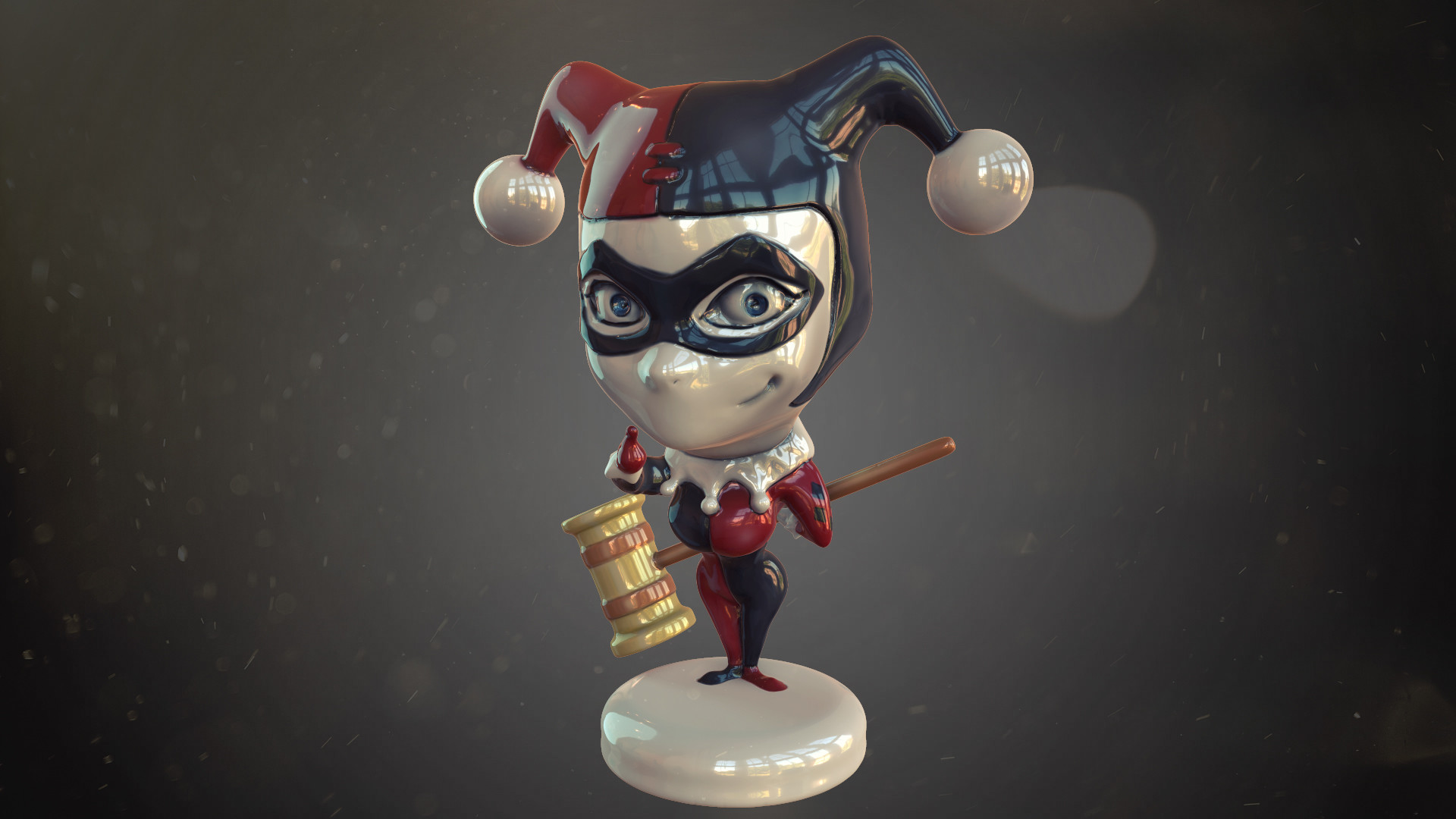 Cartoon Harley Quinn sculpting in zbrush for 3d printing