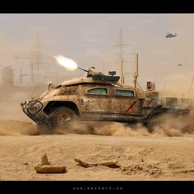 Mack sztaba hyena on the attack