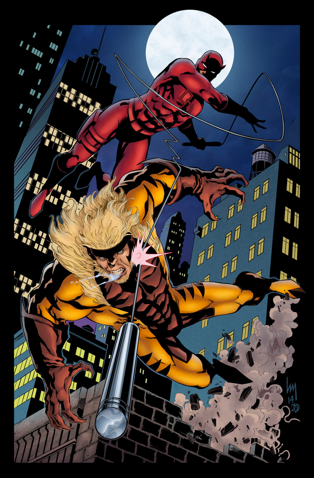 Daredevil vs Sabertooth
