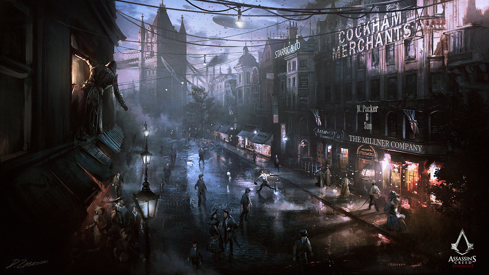 Artstation Assassin S Creed Syndicate Street View Darek Zabrocki