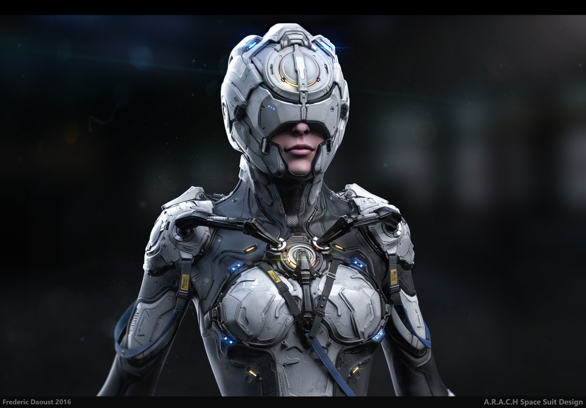 Artstation a r a c h space suit design frederic daoust for Space suit design
