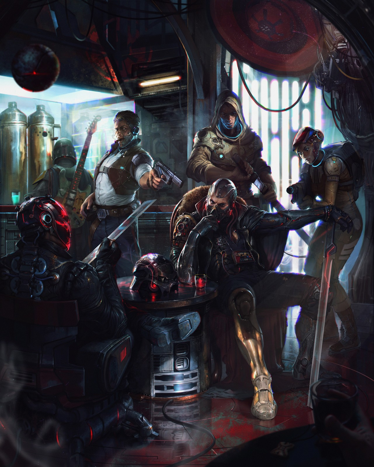 artstation cyberpunk bikers for star wars reimagined challenge denys tsiperko star wars reimagined challenge