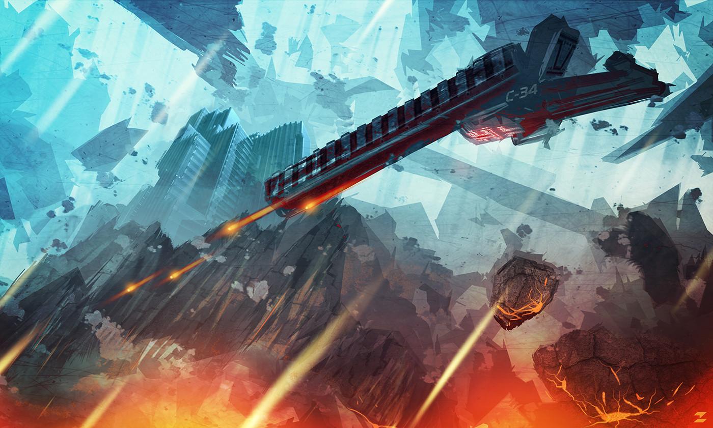 Tomislav zvonaric sci fi scene concept art tz