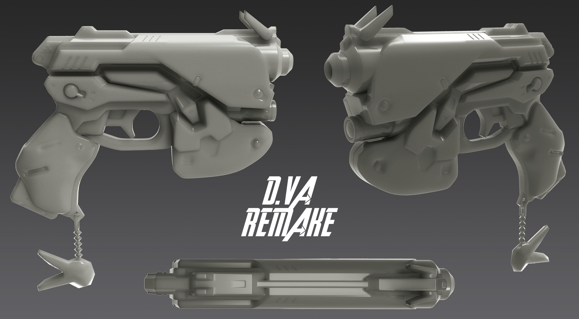 photograph about 3d Printable D&d Miniatures known as ArtStation - D.VA Pistol REMAKE for 3D Printing, Christopher