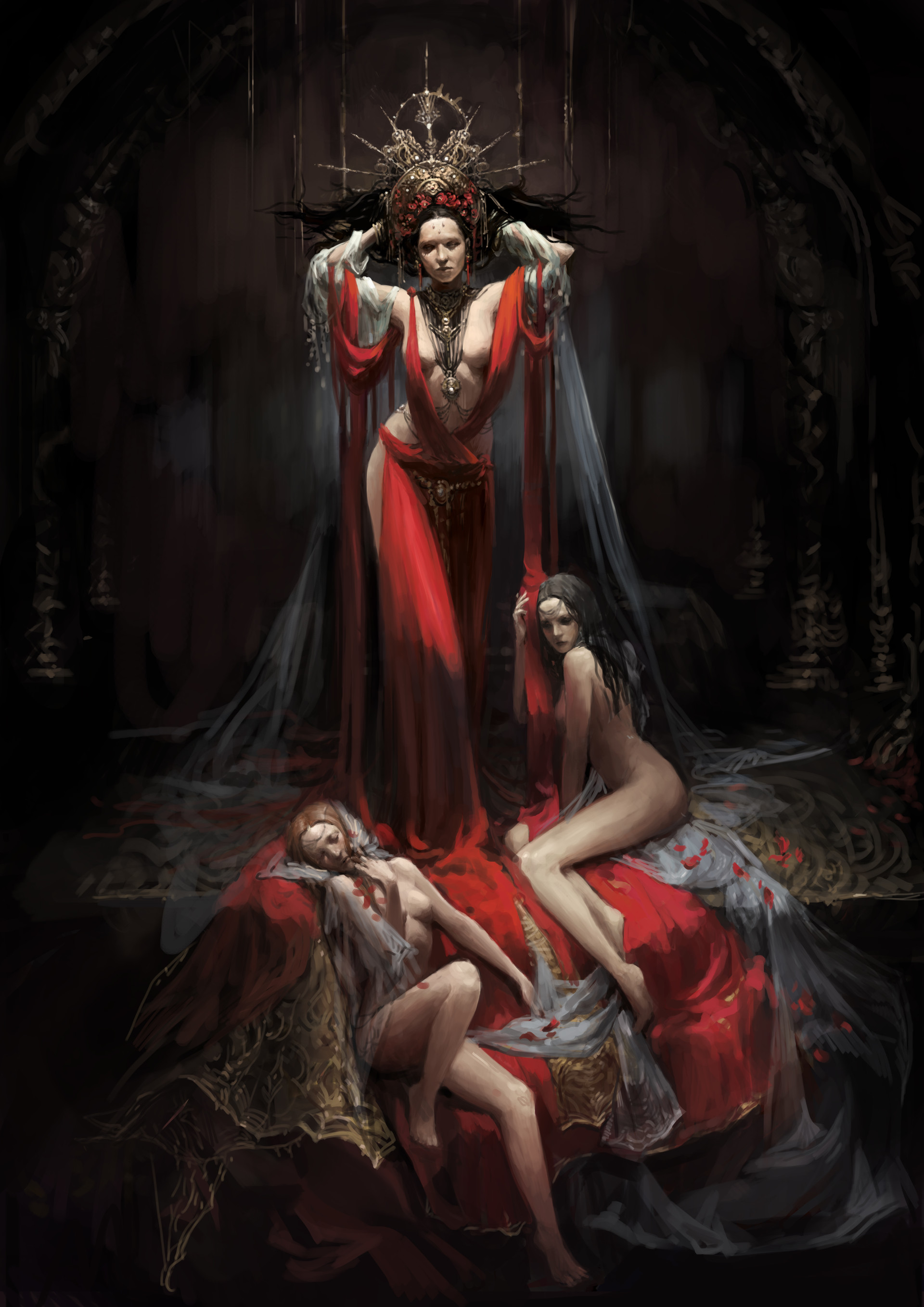 Ведьма суккуб совращает в замке мужа смотреть онлайн