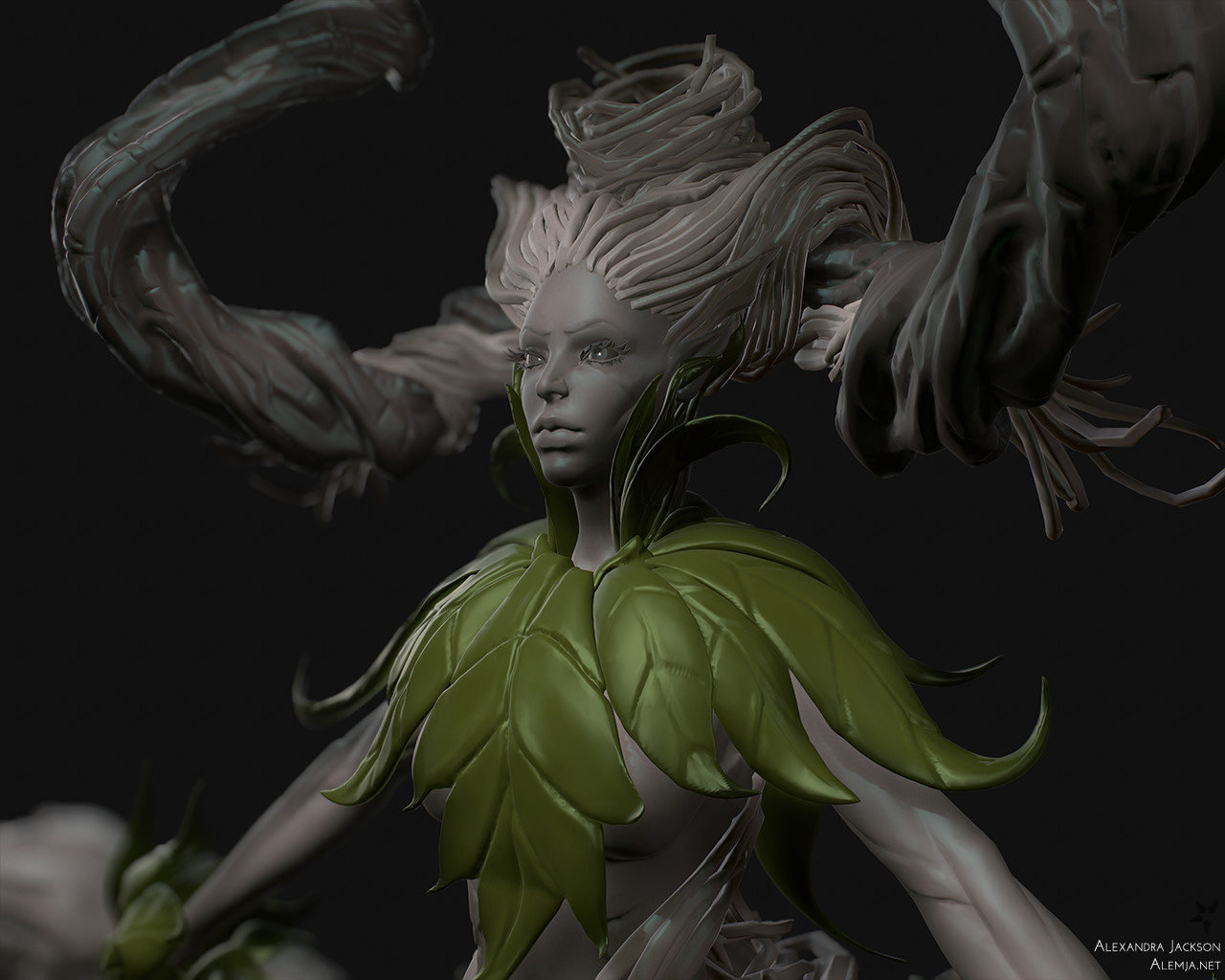 Alexandra jackson woodelemental sculpt closeup