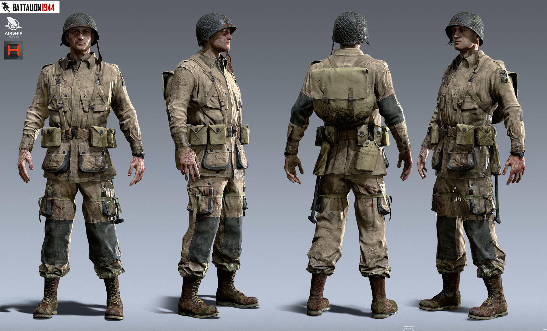Artstation Battalion 1944 Characters Airship Images