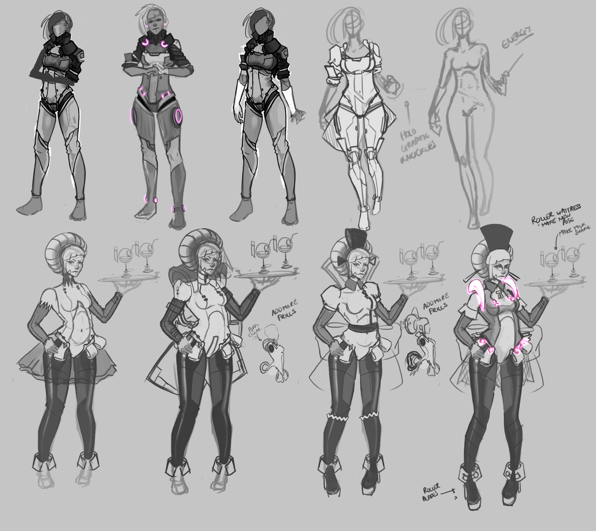 Jacket and Future Roller Maid Concepts