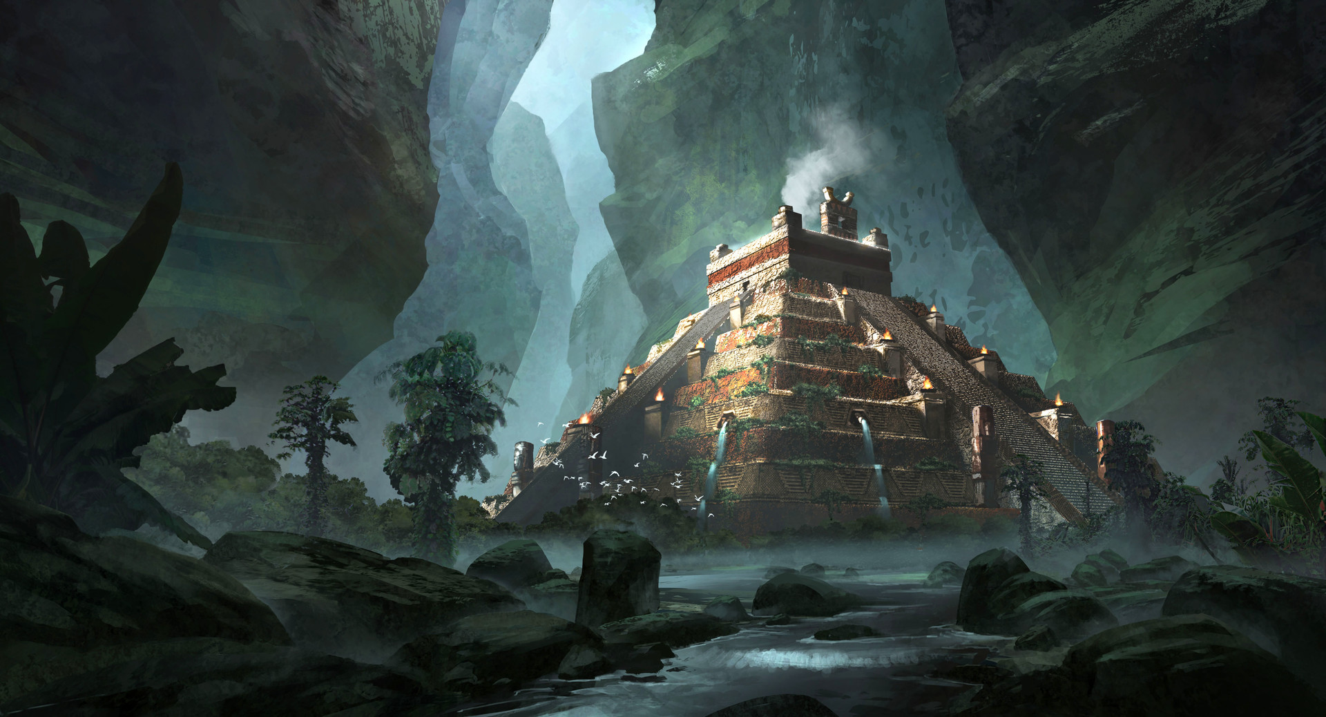 ArtStation - Temple Sacrifice, Jonathan Guzi