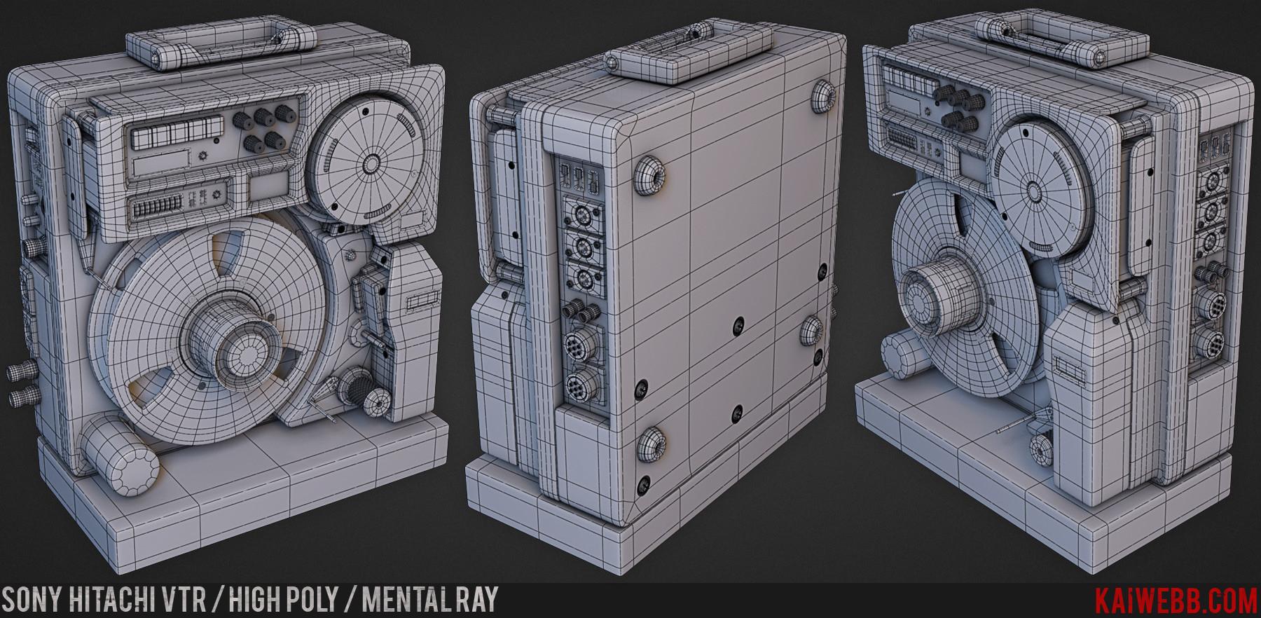 ArtStation - Kai Webb | Sony Hitachi VTR, Media Arts and Animation