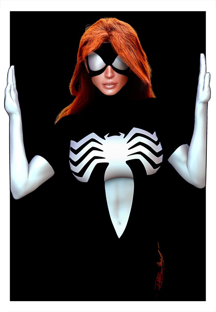 Ryan bailey spider woman black mask 1200
