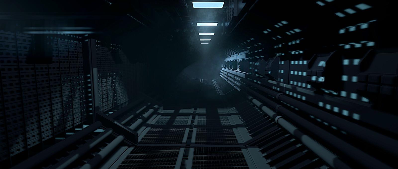 Corridor render straight from Marmoset