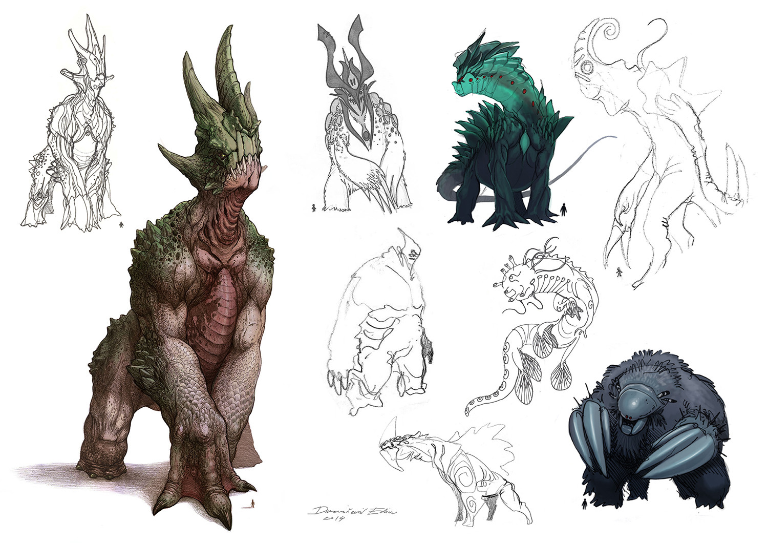 Different explorations of the creature
