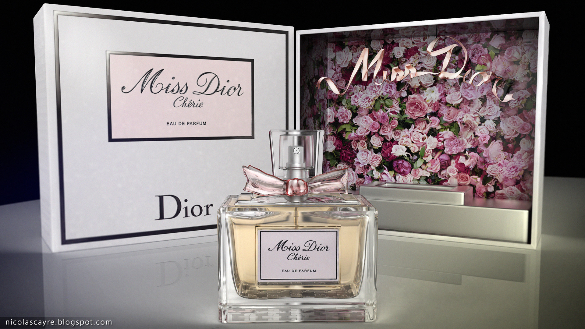 Artstation Miss Dior Chérie 3d Render Nicolas Cayré