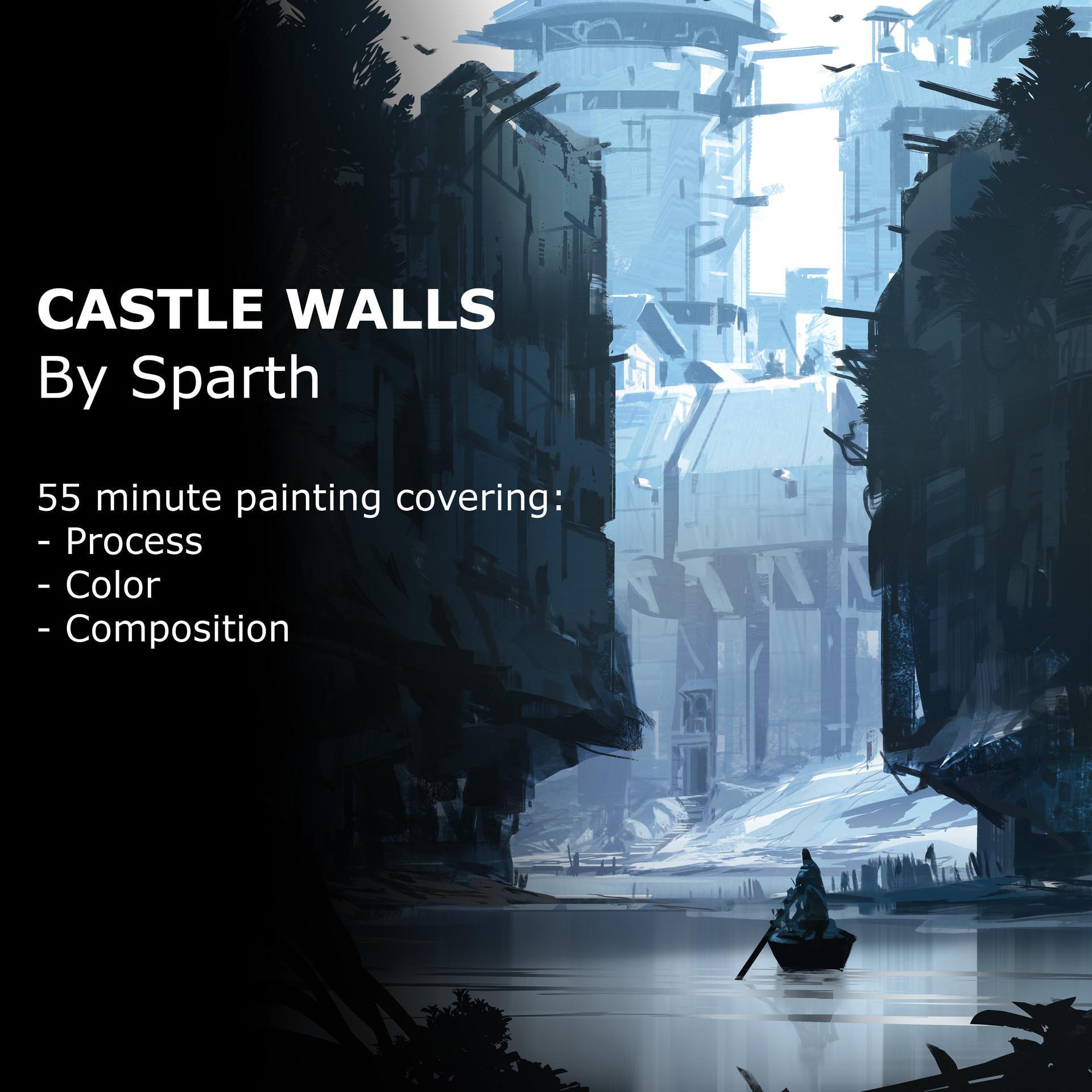 Sparth castle walls