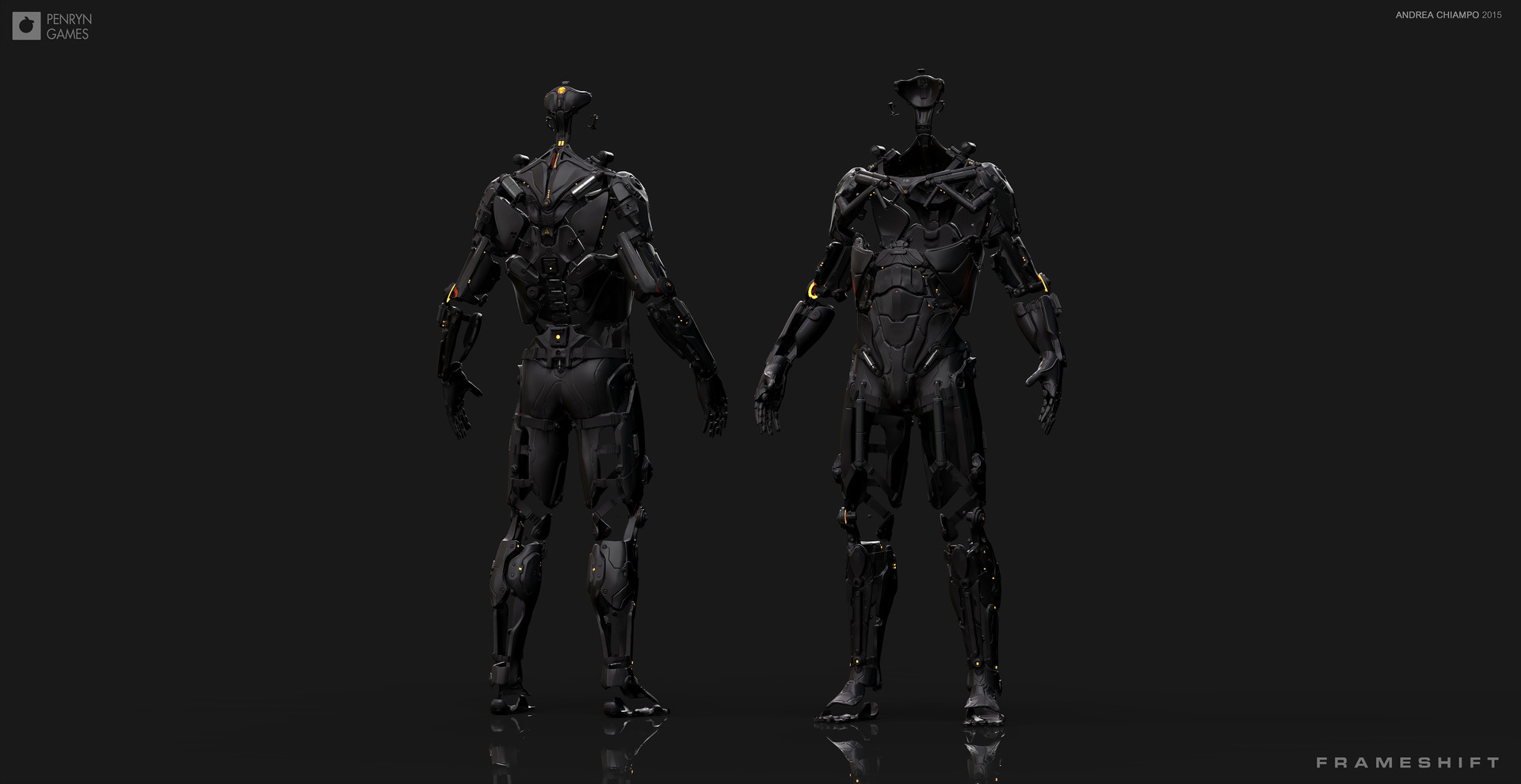 Andrea chiampo exoskeleton character perspective images a