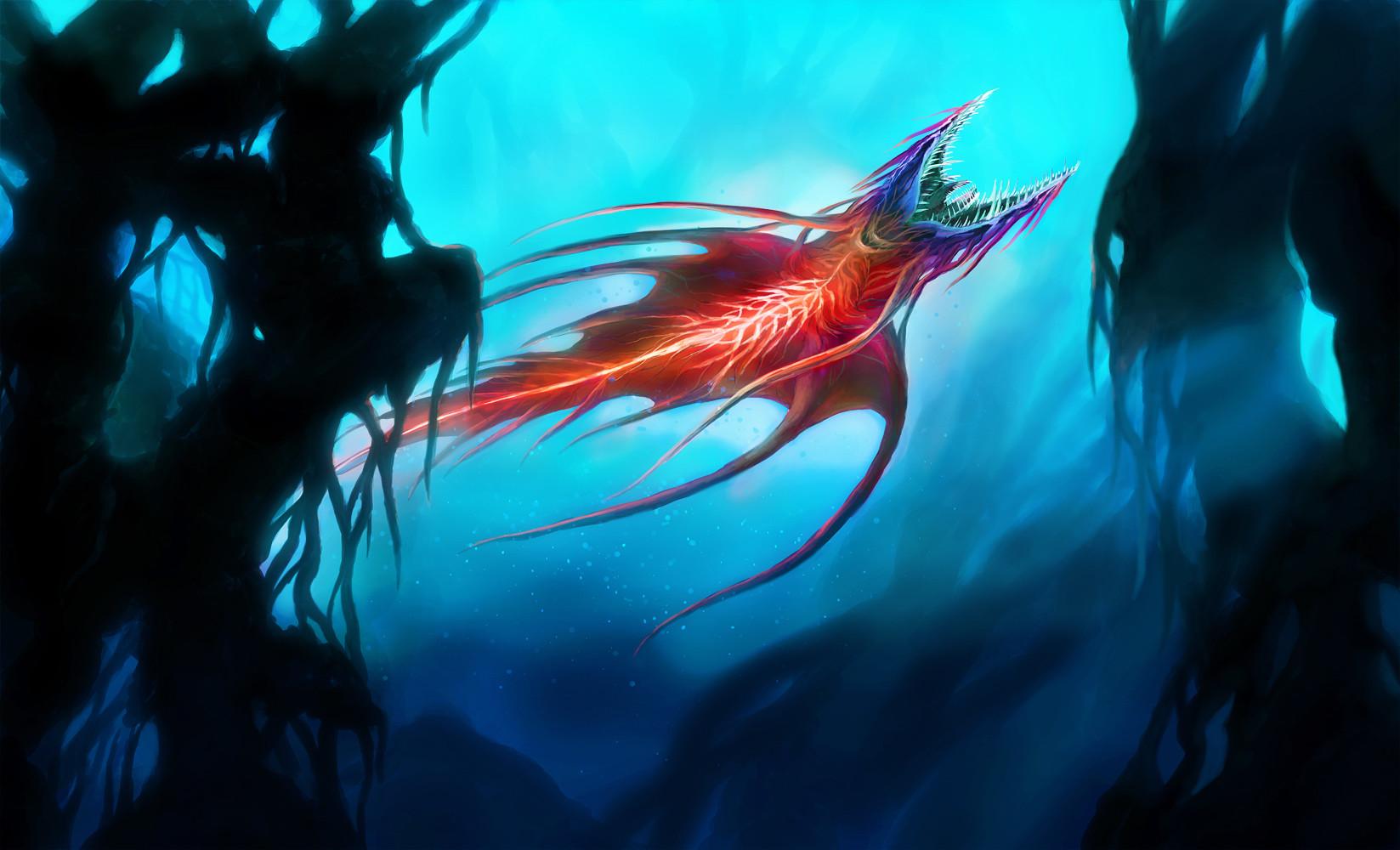 Orm irian red thunderfish by catharina wendland