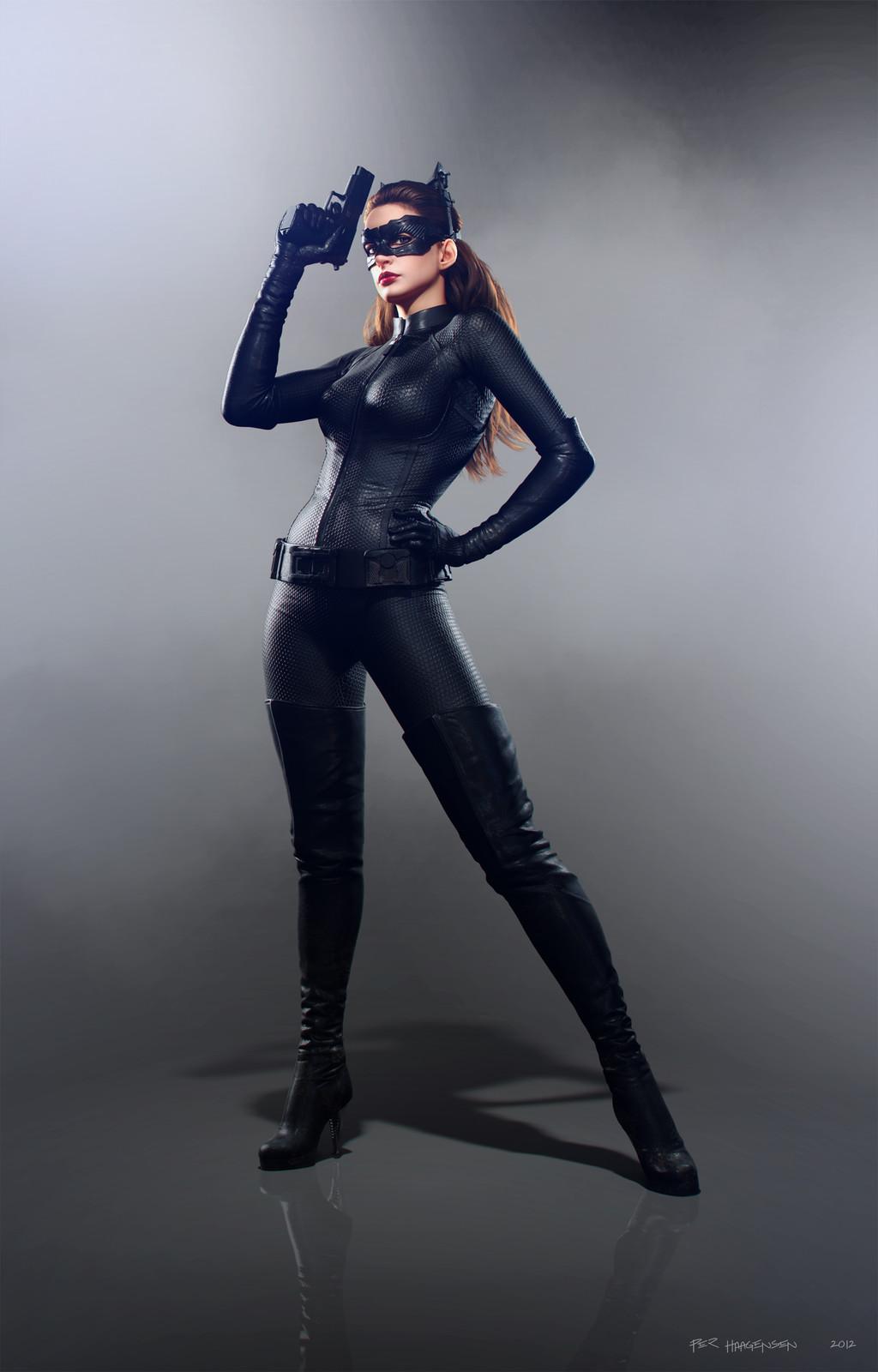 "Catwoman #2 - ""The Dark Knight Rises"". Final artwork"