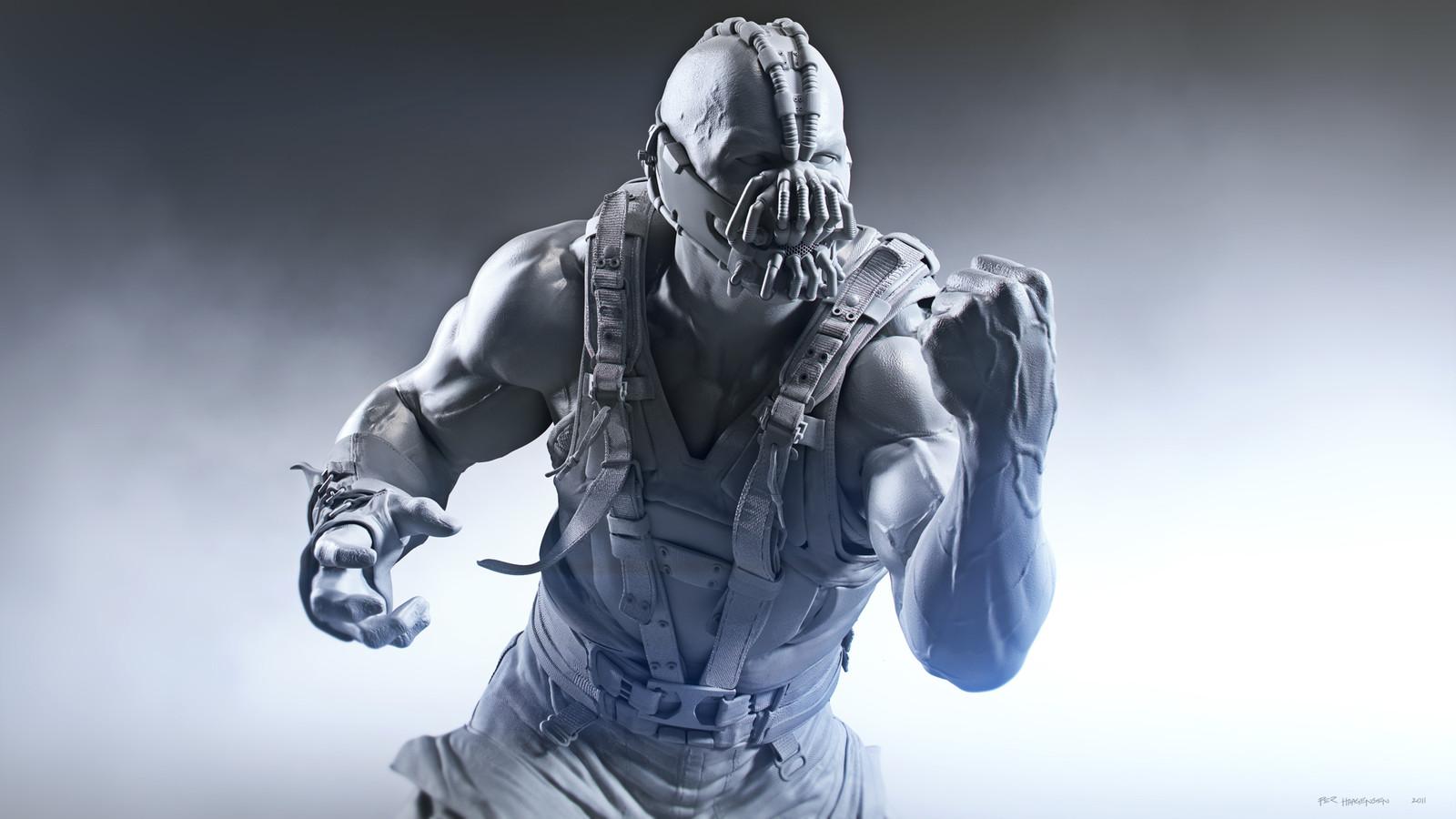 "Bane #1 - ""The Dark Knight Rises"". Digital Sculpture - Clay Render"