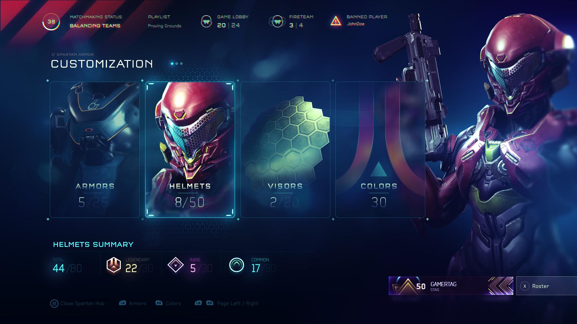 ArtStation - Halo 5 UI Concepts, Ramiro Galan