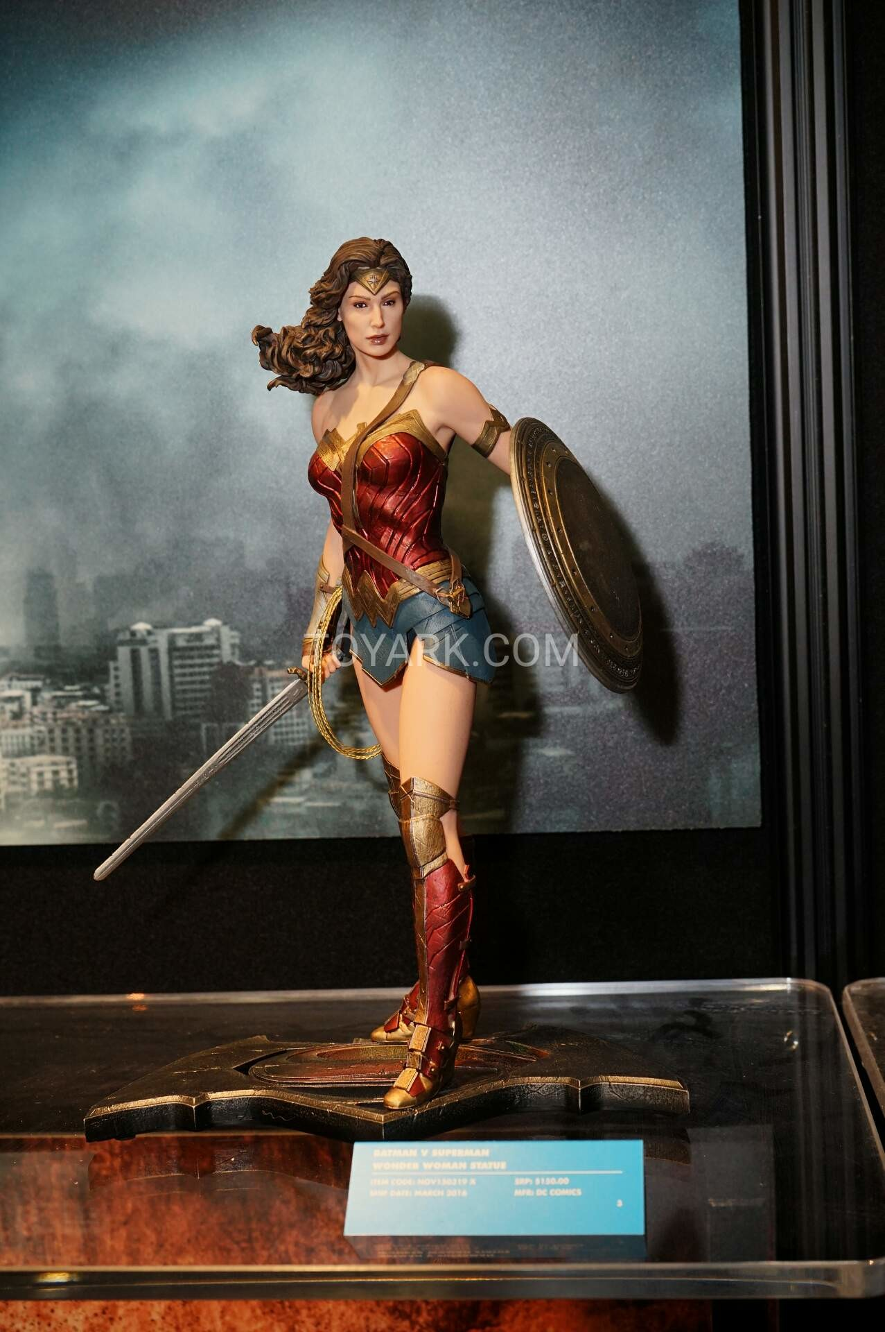 Batman V Superman DOJ Wonderwoman Statue Displayed At NY Toyfair 2016 Pictures Taken By Toyark