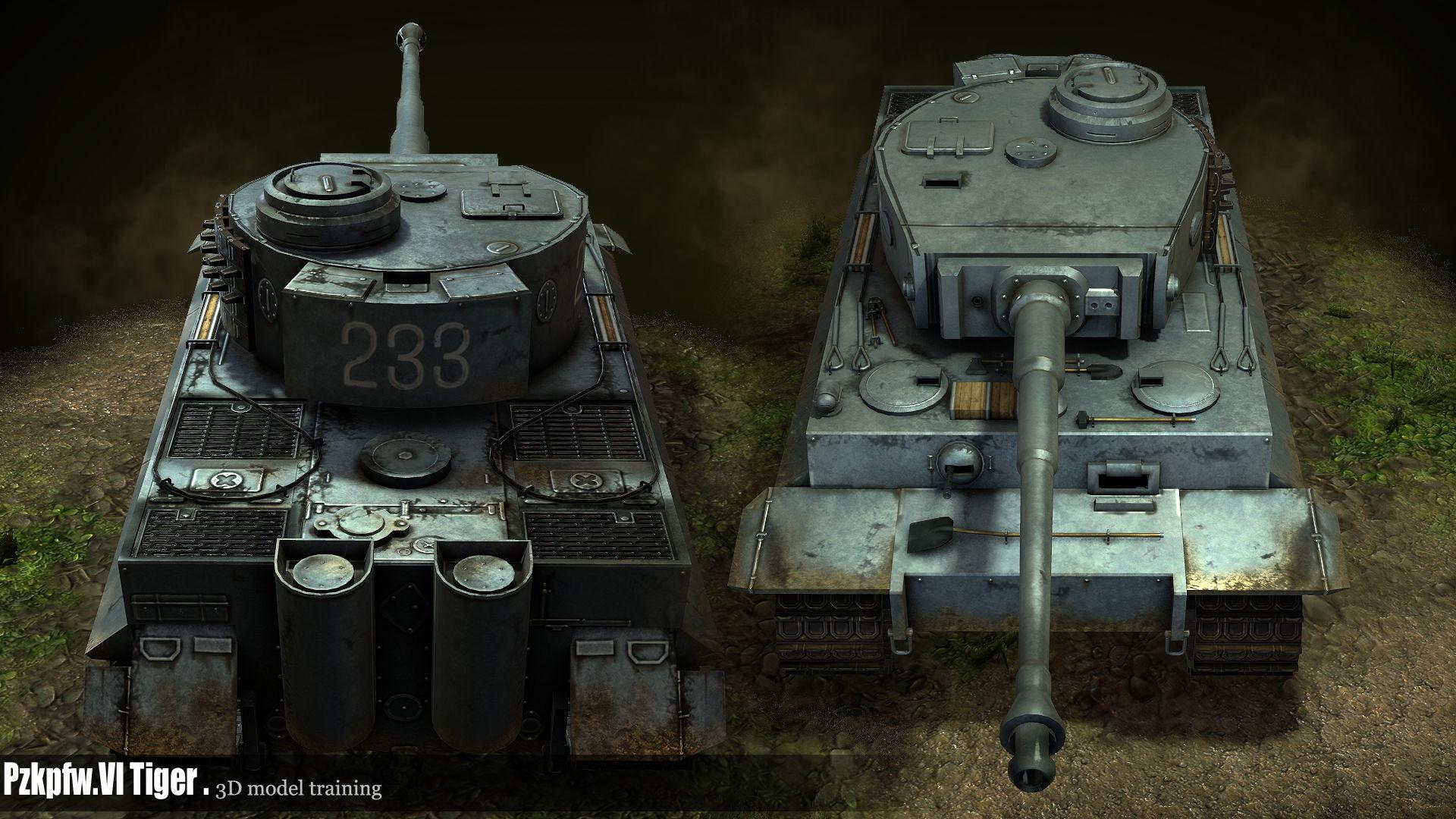ArtStation - Pzkpfw VI Tiger tank, lin xin