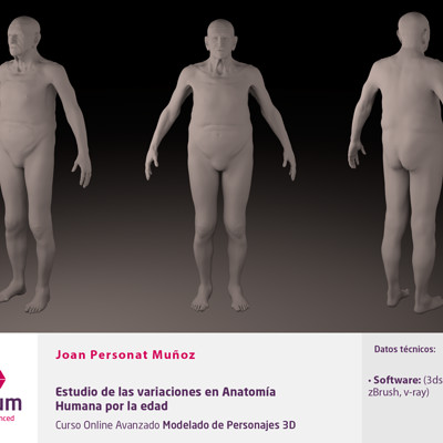 Joan personat plantilla anatomia humana por la edad