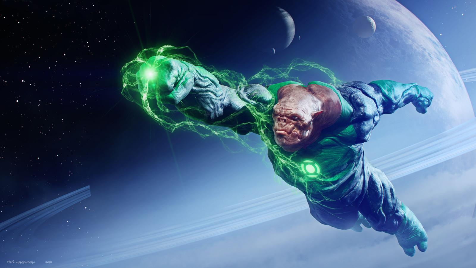 """Kilowog #1 - """"Green Lantern"""". Final artwork"""