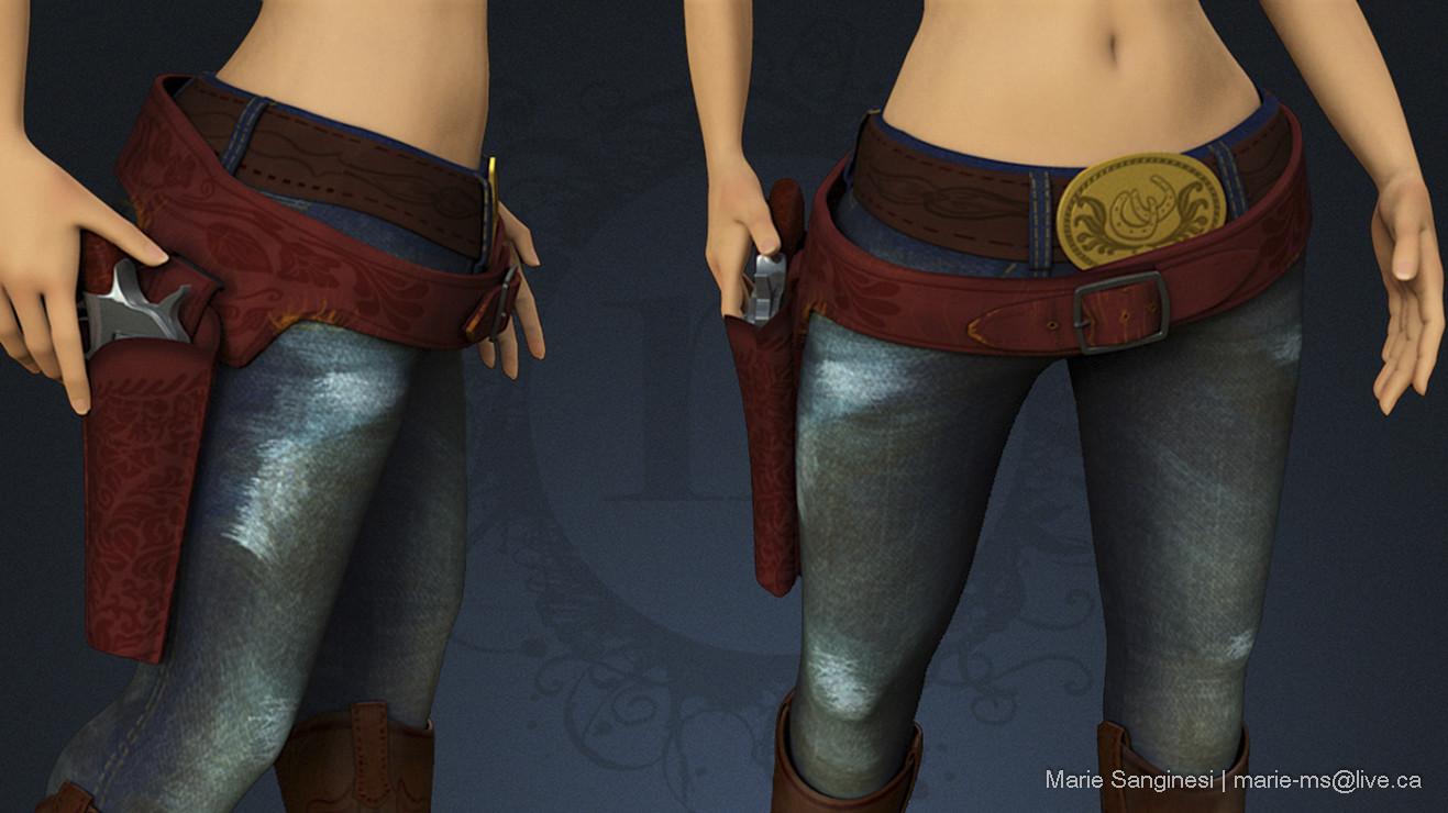 Marie sanginesi cowgirl texturerotation belts 138 copy blue