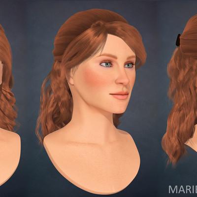 Marie sanginesi bust3views