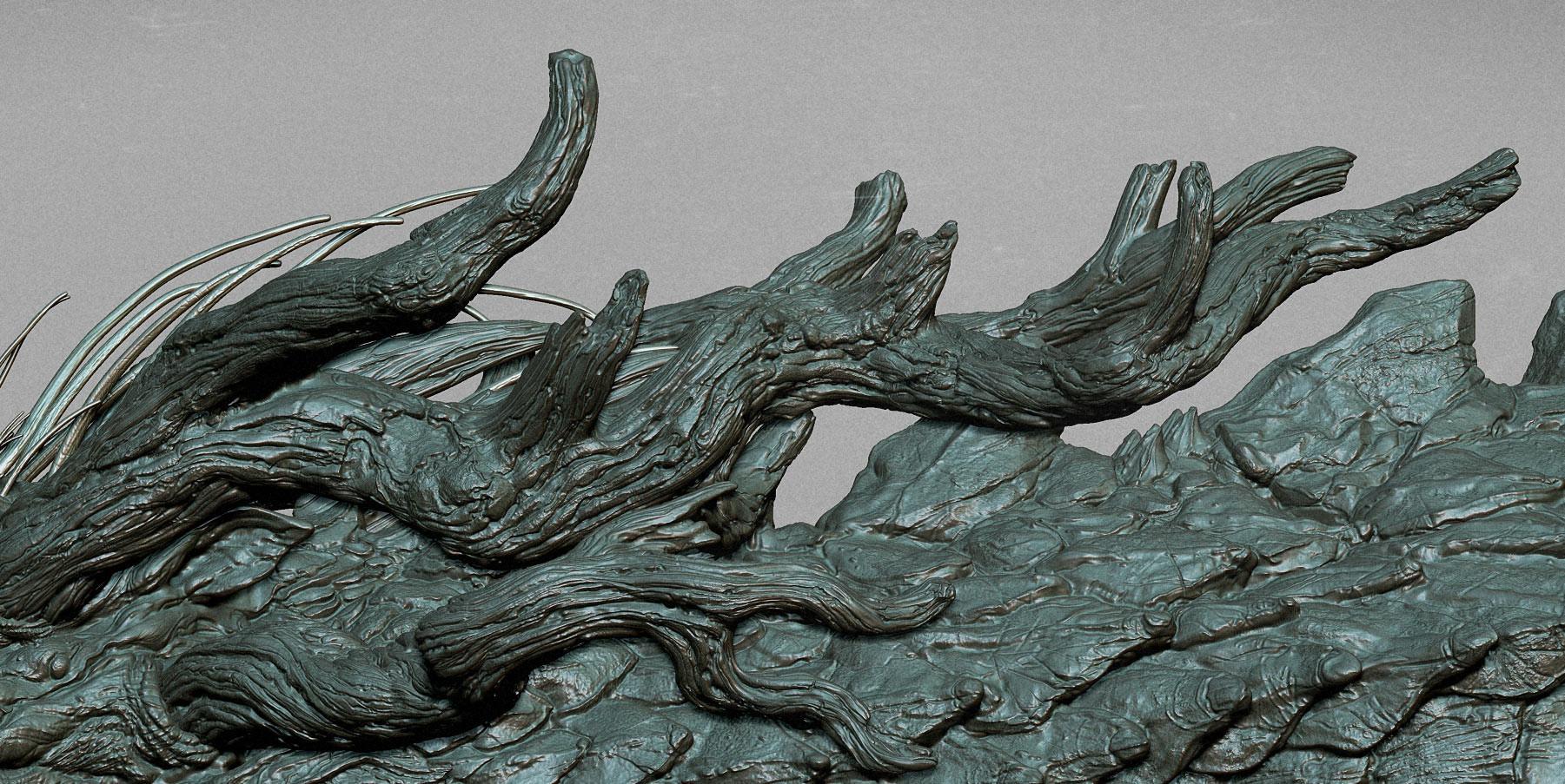 Zhelong xu terada s dragon girl detail 2