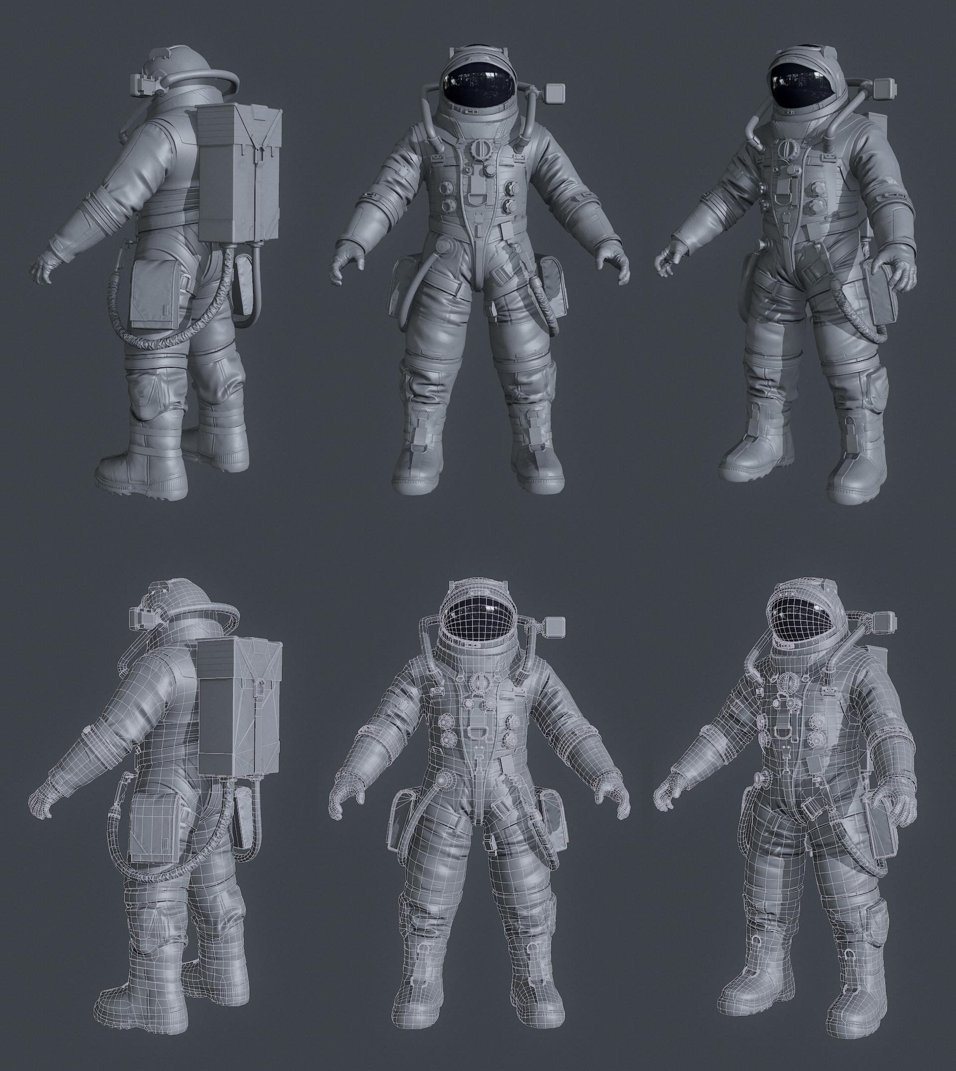 Frederik a plucinski astronaut low wires