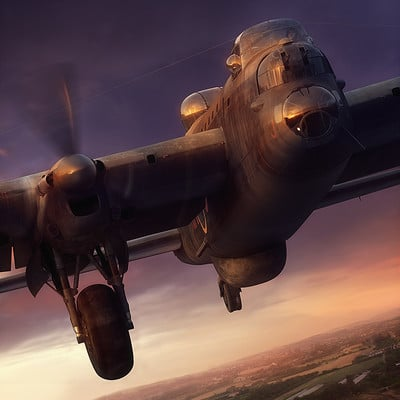 Piotr forkasiewicz aviation illustration lancaster
