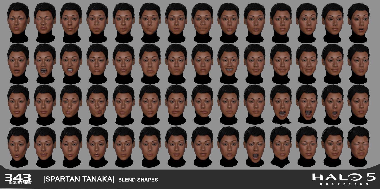 Brad shortt tanaka blendshapes