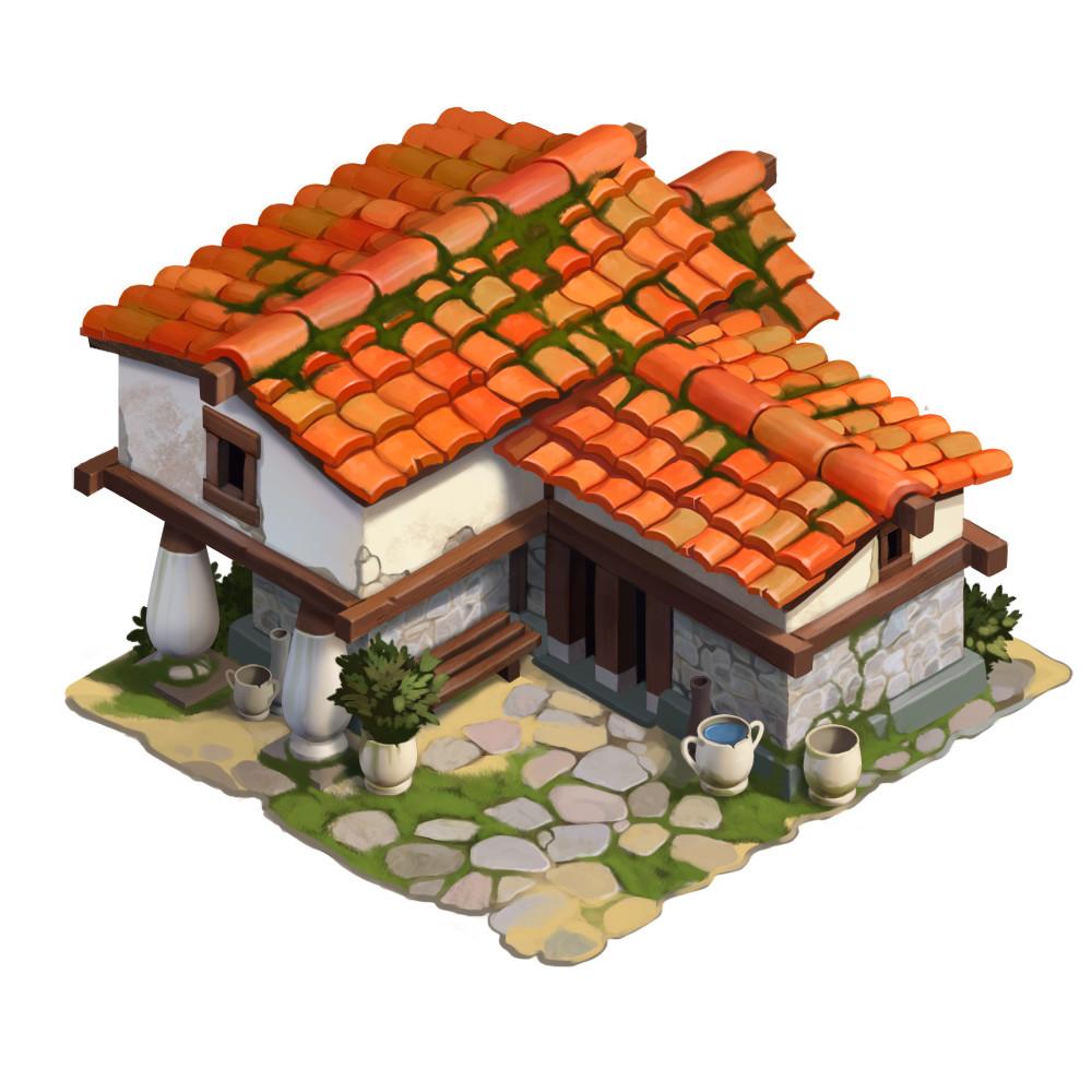 Artstation Ancient Greek House Roman Semenenko