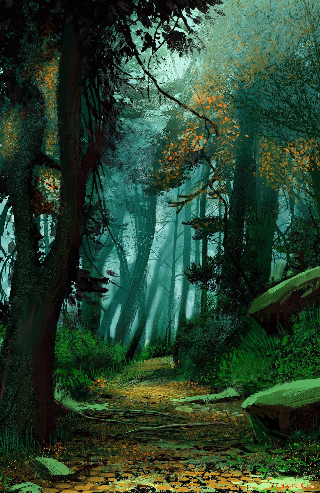 Artstation Forest Passageway Jason Scheier