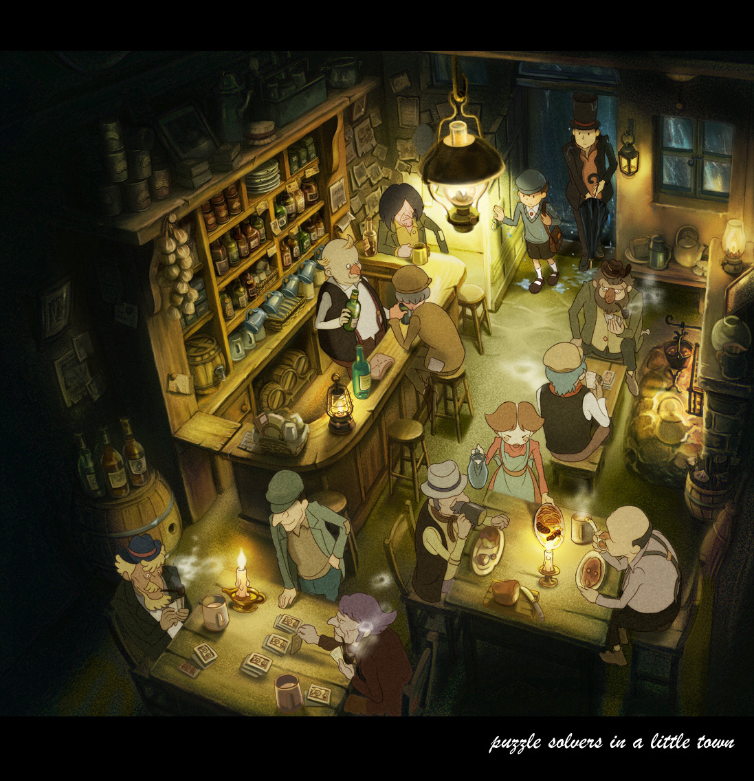 artstation layton in puzzle town mary guo