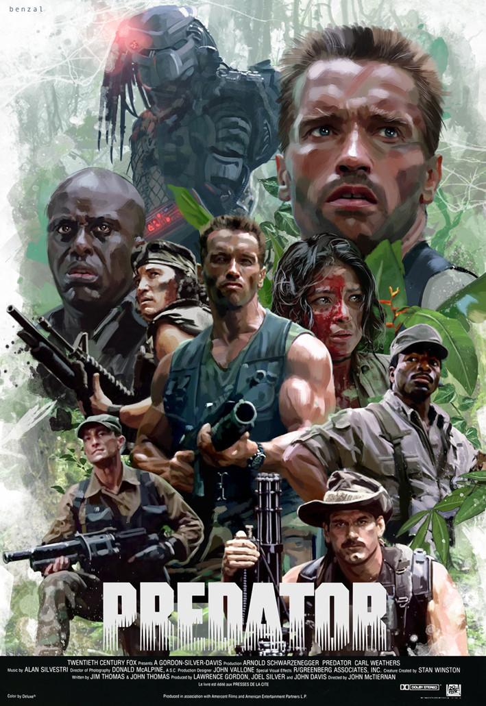 artstation predator poster david benzal