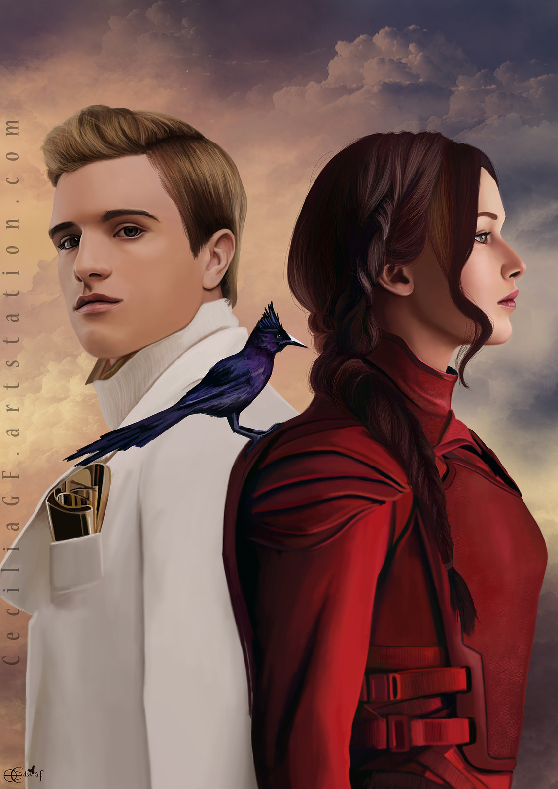 Commission - Peeta and Katniss (Hunger Games)