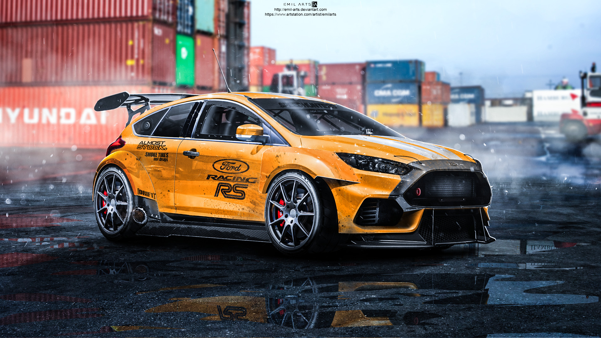 Ford Focus St Tuning >> ArtStation - Ford Focus RS 2015 Tuning, Emil Arts