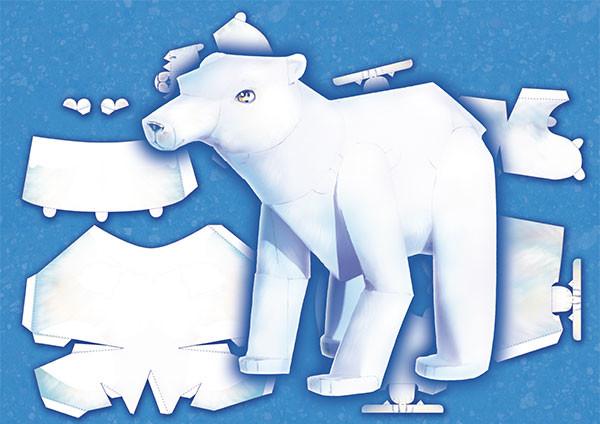 Iva vyhnankova polar bear papercraft
