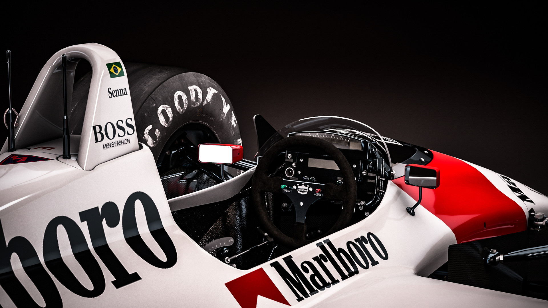 Zoki Nanco Nancorocks Mclaren Honda Mp4 4 Ayrton Senna