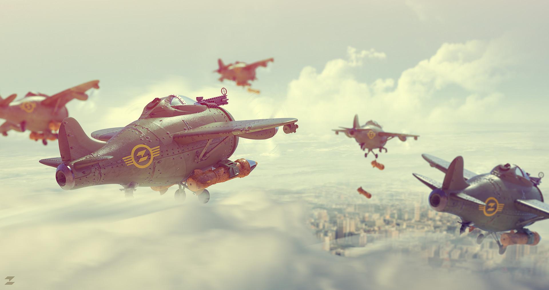 Tomislav zvonaric bombers flock low res