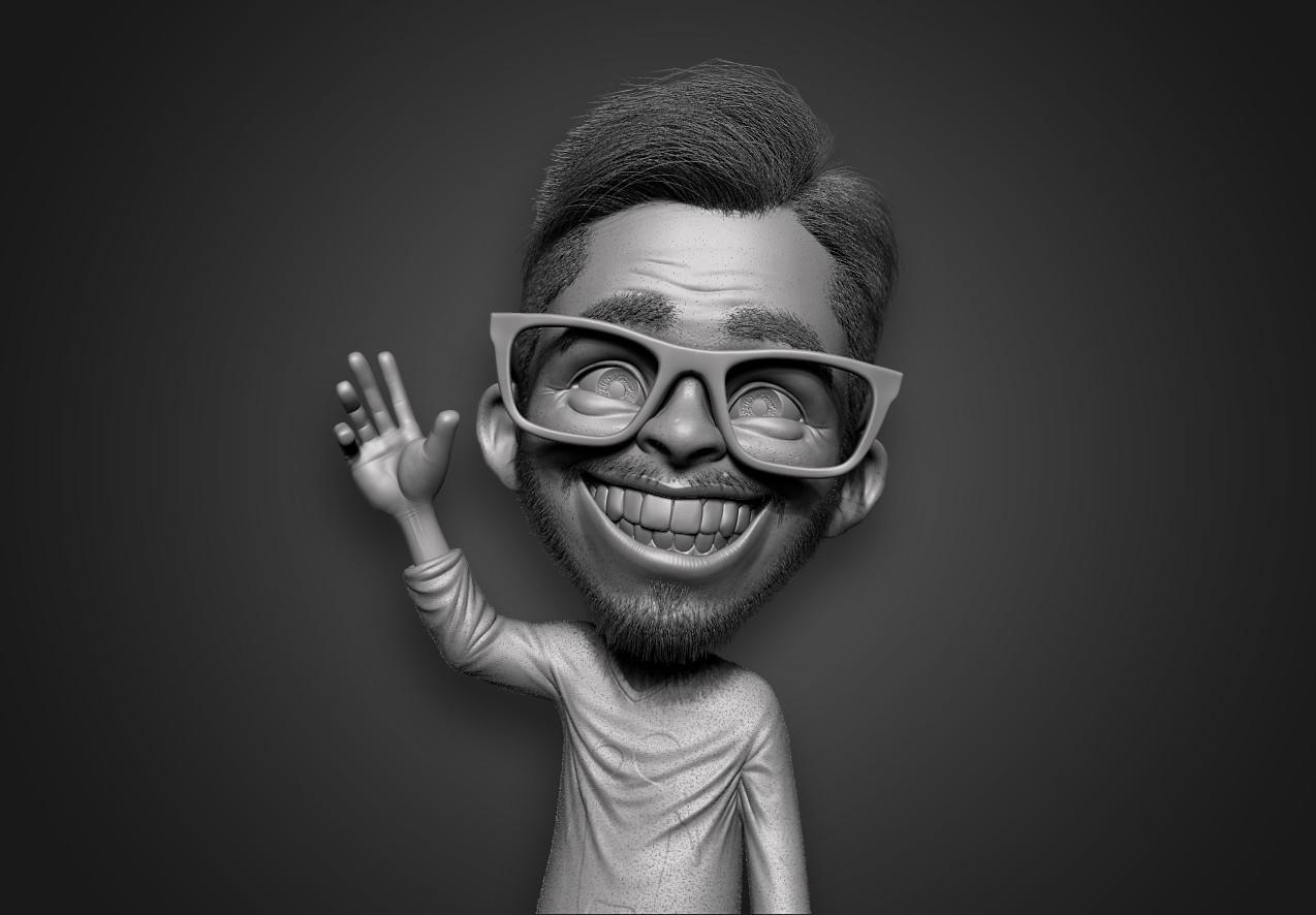 ZBrushGuides.com avatar BPR render